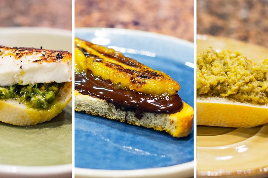 Завтраки: Брускетта, Песто, Тапенада
