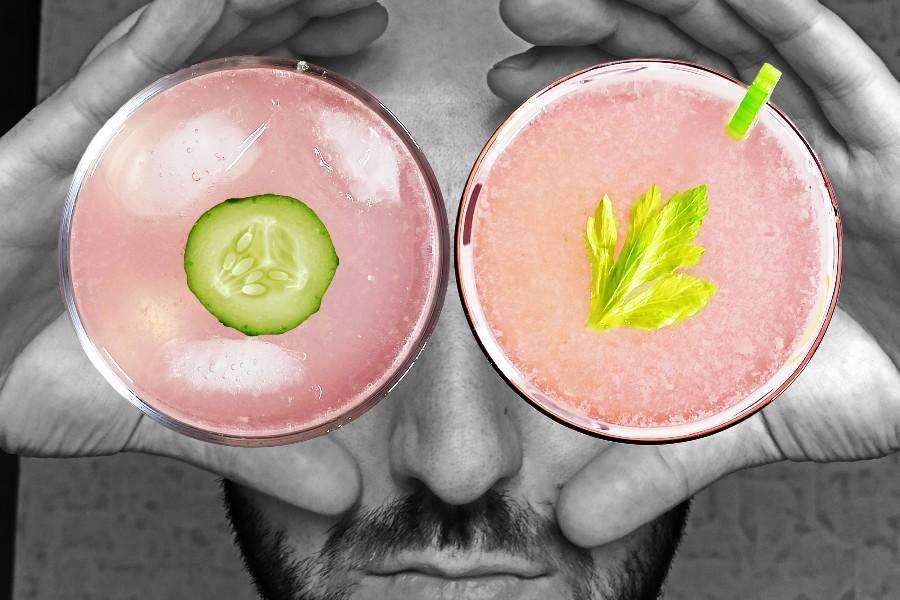 Коктейли с джином и овощами