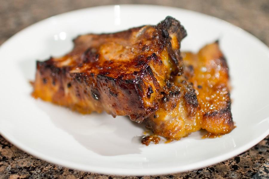 Свиные рёбра в медово-горчичном соусе
