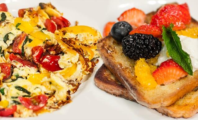 Французские тосты и омлет